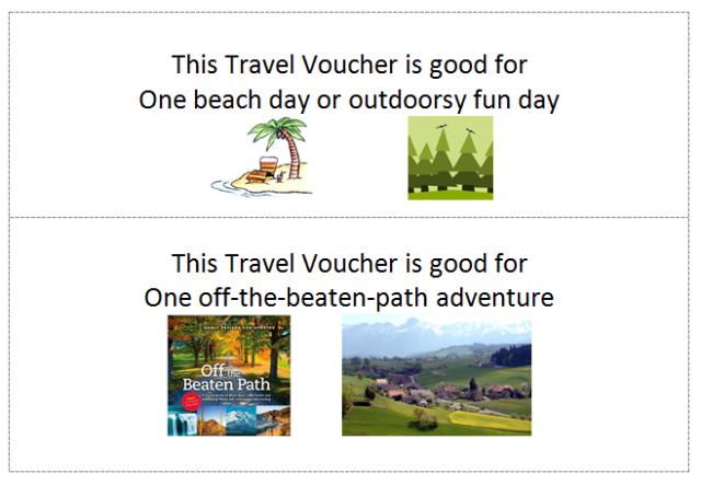 Travel Vouchers (outdoors & offbeat)