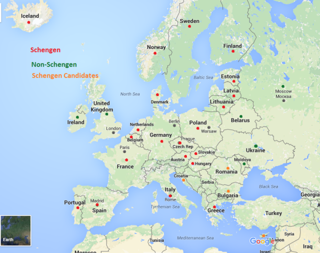 Schengen Map